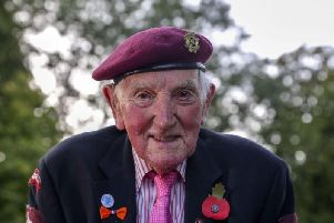 100-year-old veteran Raymond Whitwell, from Malton, North Yorkshire, outside the Airborne Museum in Arnhem Picture: Steve Parsons/PA Wire