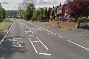 The crash happened on The Hill in Glapwell