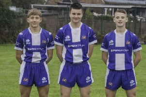 Birkenshaw' Blue Dogs Joseph Hudson (left) has joined Castleford, with Joseph Kellett (centre) and George Flanagan (right) signing scholarship terms with Bradford Bulls.