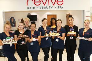 Beauty therapy and hairdressing students at Vision West Nottinghamshire College.