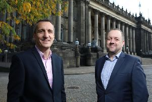 Director Andrew Fairburn (image #1; left) will lead RWOs new Leeds'operation. Also pictured is managing director Ross Oakley.
