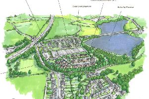 An artist's impression of the homes.