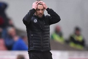 Under pressure - Stoke boss Nathan Jones.