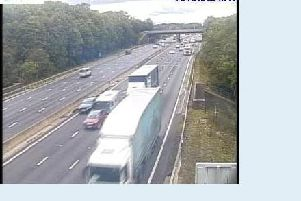 Traffic is clearing on the M1. Pic: Highways England.