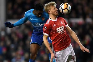 Nottingham Forest defender Joe Worrall, who is said to be on the radar of Newcastle United. (PHOTO BY: Laurence Griffiths/Getty Images)