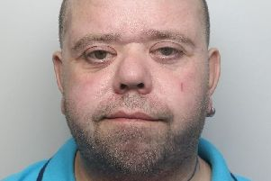 Pictured is Carl Hitchman, 41, of Shuttlewood Road, Bolsover, who has been jailed for 23 weeks after he admitted a theft and an attempted burglary.
