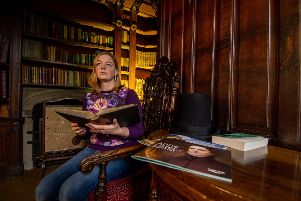 Angela Clare, collections manager for Calderdale Museums, in the Tower Library at Shibden Hall, Halifax. Picture: 'James Hardisty.