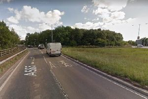 The A585 is closed. Pic: Google Maps