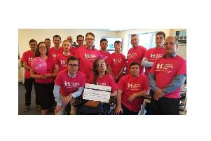 Leah Rowles held a pink-themed day at work in honour of her sister, raising more than 6,000.
