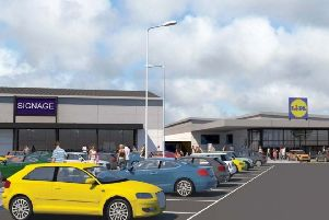 An artist's impression of the planned Lidl at Long Eaton, Derbyshire