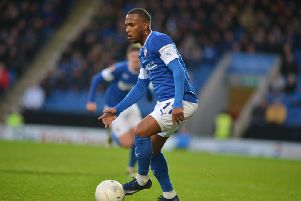 Gevaro Nepomuceno scored his first goal for Chesterfield on Saturday against Notts County.