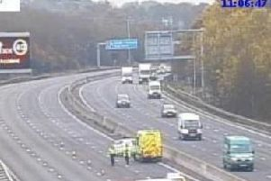 The accident happened between J32 for Aston, and J30 forBarlborough.