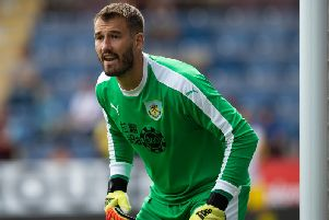 Burnley goalkeeper Adam Legzdins