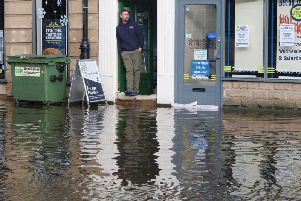 Flood-hit Matlock. Pictures by Jason Chadwick.