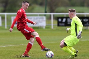 Paul Turner limped off during Longridge Town's defeat to Vauxhall Motors at the weekend