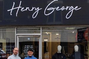 Henry George Menswear during happier times before the break in caused extensive damage.