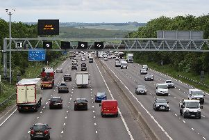 The M1 motorway is closed northbound following a collision.