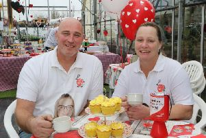 Bethany's parents Robert and Dawn at the 5th cake and coffee day held in memory of Bethany Mycroft. Picture by Jason Chadwick.