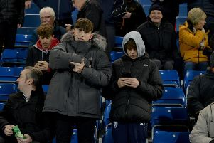 Chesterfield fans at the Proact last night.