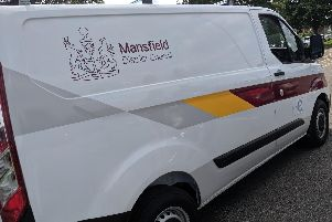 Mansfield District Council van.