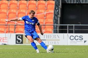 Chesterfield defender Anthony Gerrard. Picture by Howard Roe/AHPIXLTD