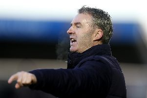 Chesterfield boss John Sheridan will face his old club Notts County in the FA Trophy first round.  (Photo by Pete Norton/Getty Images)