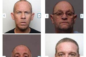 Clockwise from top left: Neil Waring,  Robert Richards,  David Smallman and Keith Harrison