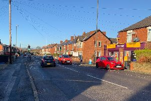 The scene of the collision on Hasland Road, near the junction with Penmore Street.