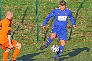Luke Ogley in possession for Highgrove. Picture: Tony North