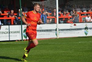 Dean Freeman scored Ilkeston's first goal.