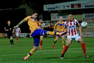 Stags v Cheltenham action today.