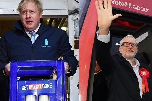 Boris Johnson and Jeremy Corbyn spent the final day of the election campaign in Yorkshire.