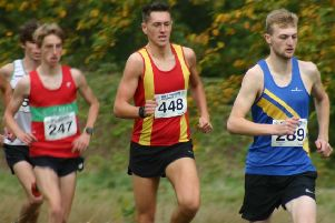 Spenborough's Joe Sagar finished third at the West Yorkshire Cross Country event at Princess Mary Stadium.