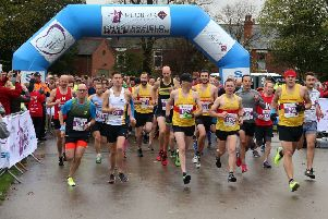 And they're off! The start of last year's inaugural Chesterfield Half-Marathon. (PHOTO BY: Eric Gregory)