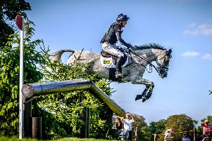 FLYING: Huddersfield's world no 1 Oliver Townend and Ballaghmor Class in action at Burghley, where the duo had to settle for a well-earned second place. Picture: Michael Harris.