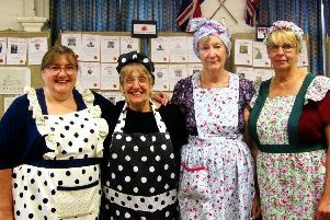 Volunteers at Walesby's Willows community cafe who helped to support the poppy project with a wartime-themed lunch.