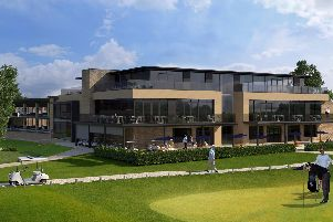 An artist's impression of what the proposed new Leeds Golf Centre's clubhouse could look like.