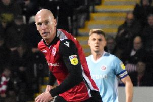 Kevin Ellison scored Morecambe's goal in their defeat to Stevenage last time out