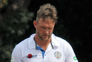 Hardus Viljoen in action for Derbyshire at Queens Park