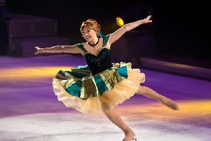 Action from Disney on Ice's latest show, Dream Big.