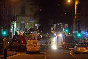 The aftermath of the blast in Batley. Picture: Tony Johnson.