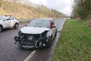 The scene of the crash. Picture: Derbyshire Roads Policing Unit