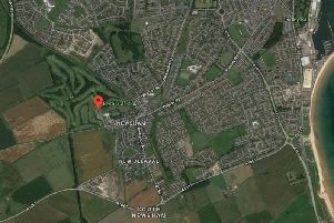 A Google Maps image showing the location of Blyth Golf Club.