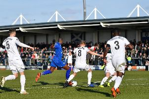 Marc-Antoine Fortune got the only goal of the game at Mill Farm