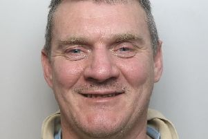 Pictured is serial thief Garry Newton, 48, of no fixed abode, who has been jailed for 12 weeks after he was caught shoplifting at Boots in Chesterfield.