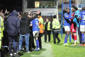 Chesterfield FC v Ebbsfleet Utd after the Spireites' late equaliser on January 5.