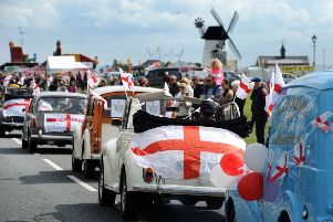 Last year's St George's Day Ferstival procession through Lytham