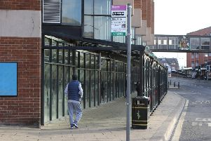 Part of Chesterfield's bus station where steps have been taken to prevent homeless people causing a mess