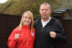 Lisa Whiteside with her coach Mick Day