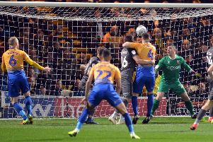 Mansfield Town v Lincoln City.'Stags first half goal.